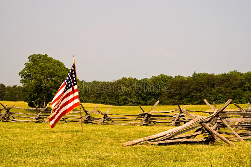 Campo de batalla e indicador de la guerra civil imagenes de archivo