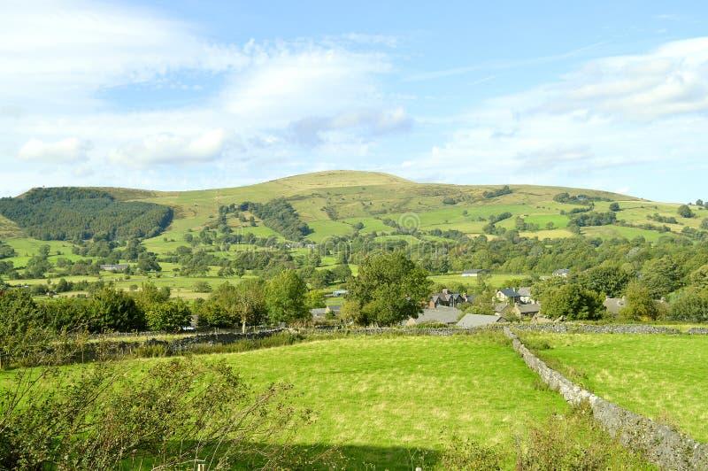 Campo de Castleton em Derbyshire fotos de stock royalty free