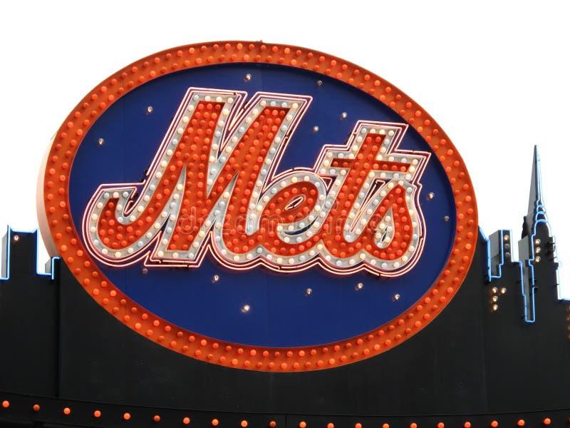 Campo de Citi - insignia de Mets foto de archivo libre de regalías