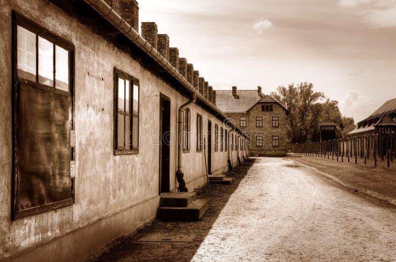 Campo de concentración Auschwitz-Birkenau en Oswiecim, Polonia fotografía de archivo libre de regalías