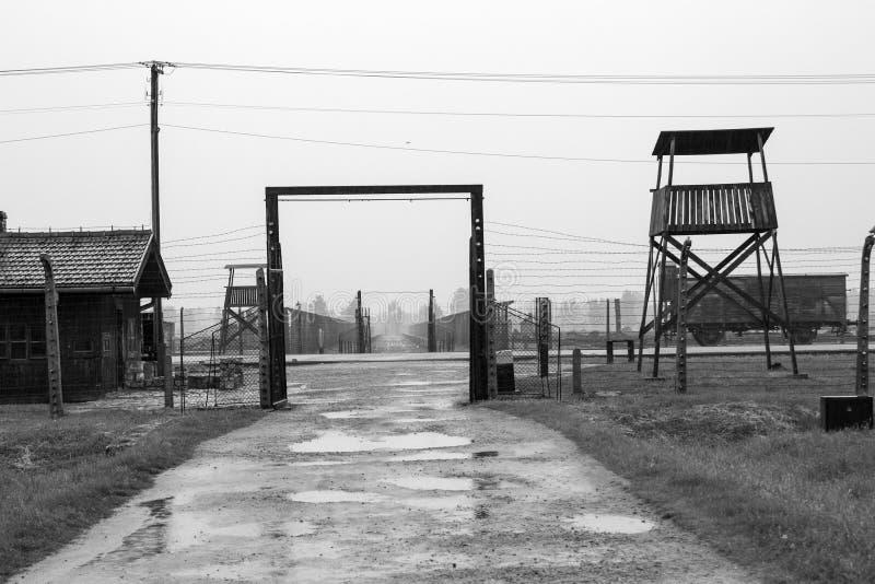 Campo de concentración Birkenau Oswiecim, Polonia 2016 fotos de archivo libres de regalías