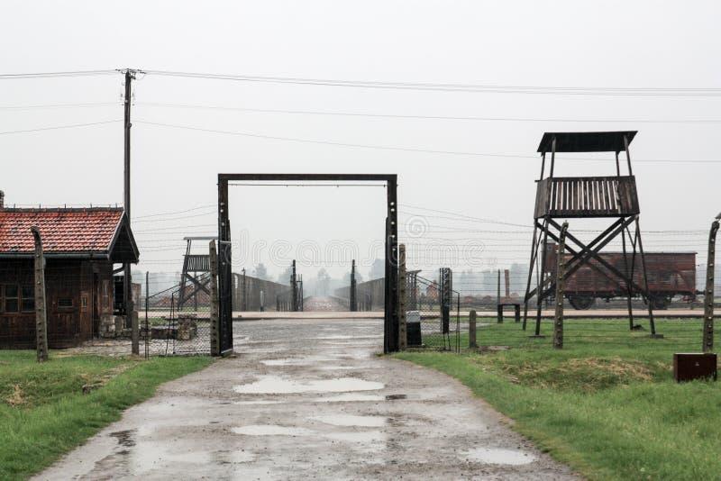 Campo de concentración Birkenau Oswiecim, Polonia 2016 fotografía de archivo libre de regalías