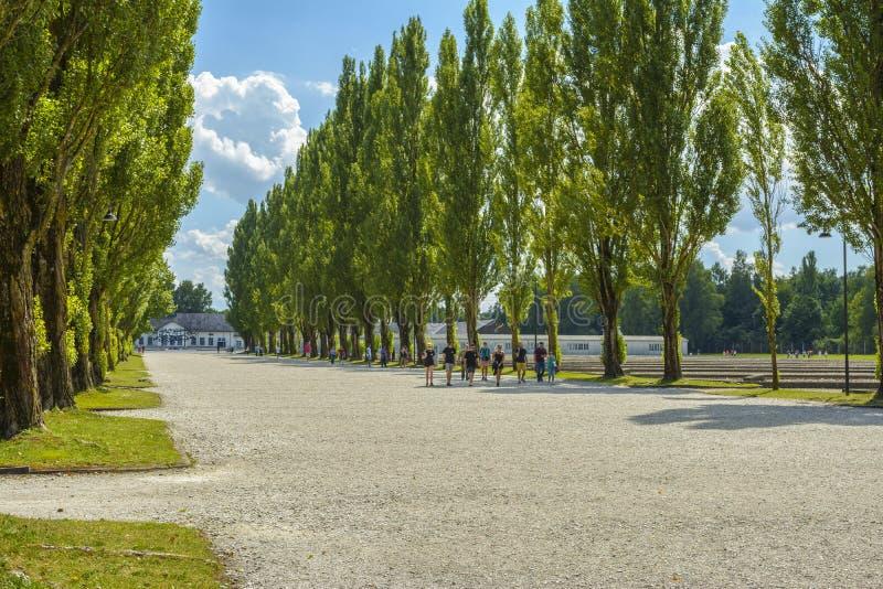 Campo de concentración de Dachau imagenes de archivo