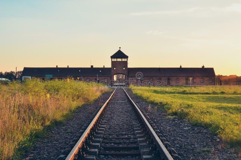 Campo de concentración en Oswiecim, Polonia foto de archivo