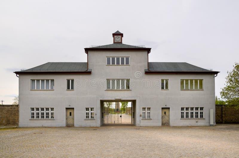 Campo de concentración en Sachsenhausen fotos de archivo