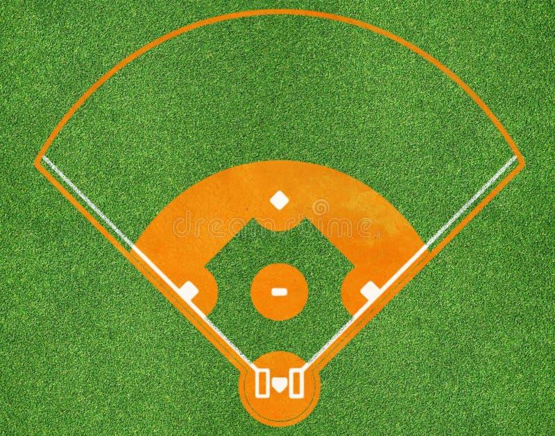Campo de deportes del béisbol foto de archivo