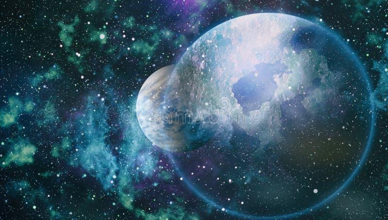 Campo de estrella en espacio profundo muchos años luz lejos de la tierra Elementos de esta imagen equipados por la NASA libre illustration