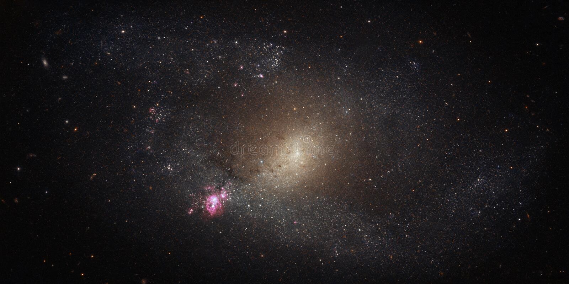 Campo de estrellas con las galaxias y las constelaciones espacio fotos de archivo libres de regalías