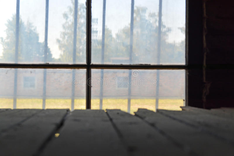 Campo de exterminación de Auschwitz foto de archivo