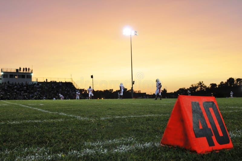 Campo de fútbol fotografía de archivo libre de regalías