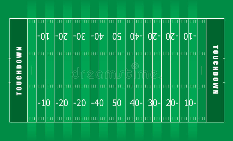 Campo de fútbol americano stock de ilustración