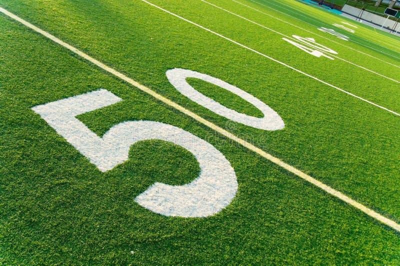 Campo de fútbol americano imagen de archivo