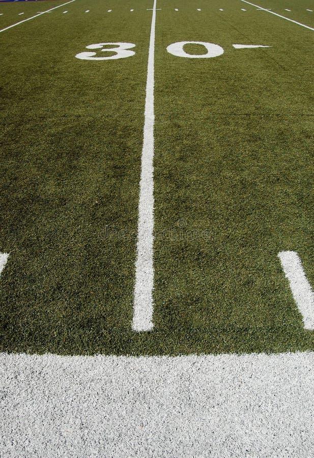 Campo de fútbol americano imágenes de archivo libres de regalías
