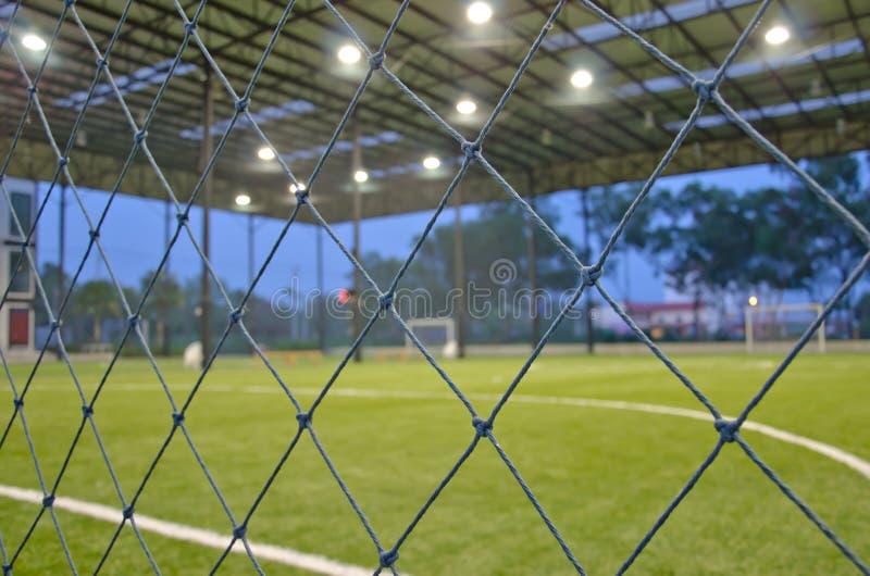 Campo de fútbol de interior imagen de archivo libre de regalías