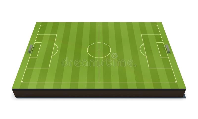 Campo de fútbol de la disposición aislado en blanco stock de ilustración