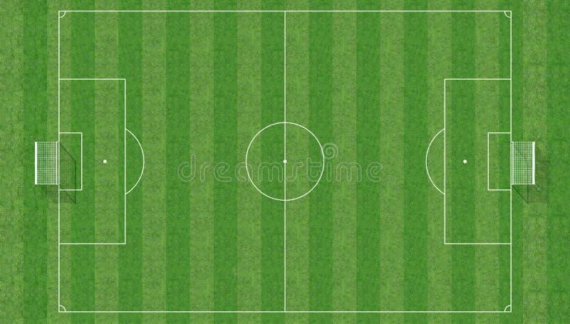 Campo de fútbol de la visión superior stock de ilustración