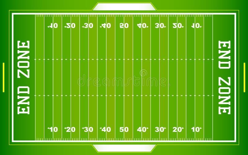 Campo de fútbol del NFL stock de ilustración