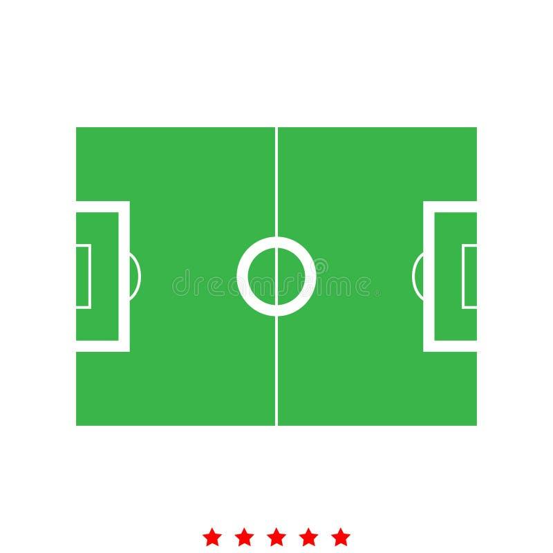 Campo de fútbol es icono ilustración del vector