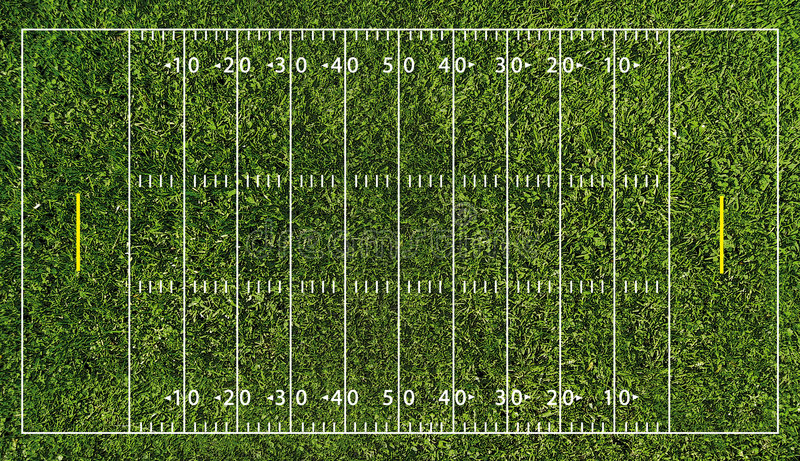 Campo de fútbol (NFL) ilustración del vector