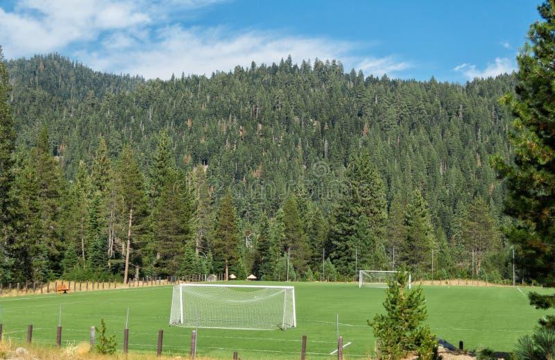 Campo de fútbol, Squaw Valley fotografía de archivo libre de regalías