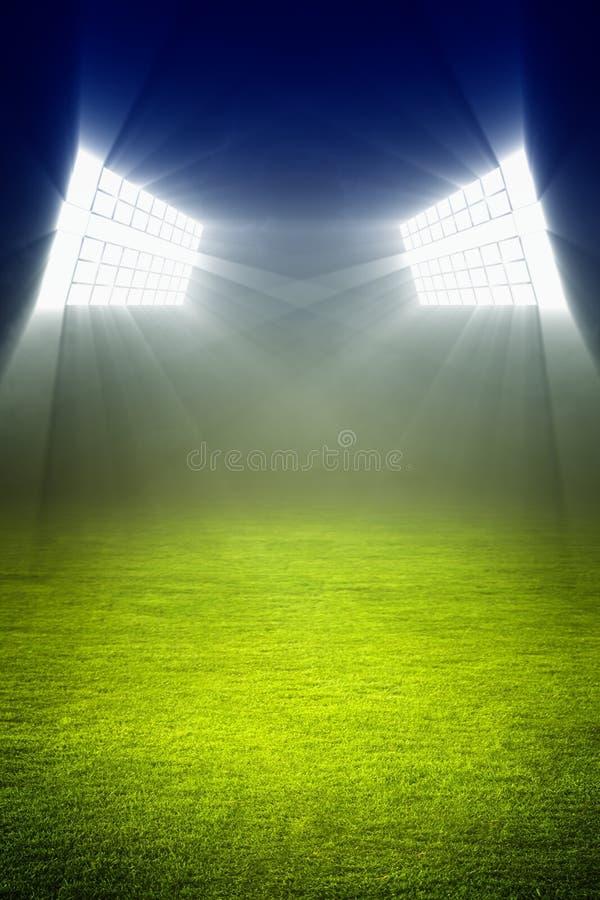 Campo de fútbol verde fotos de archivo libres de regalías
