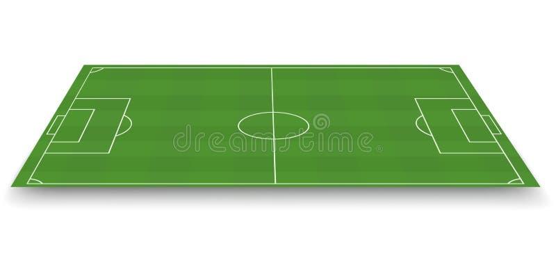 Campo de fútbol, vista lateral stock de ilustración