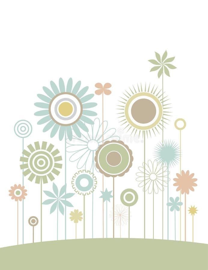 Campo de flor ilustração stock