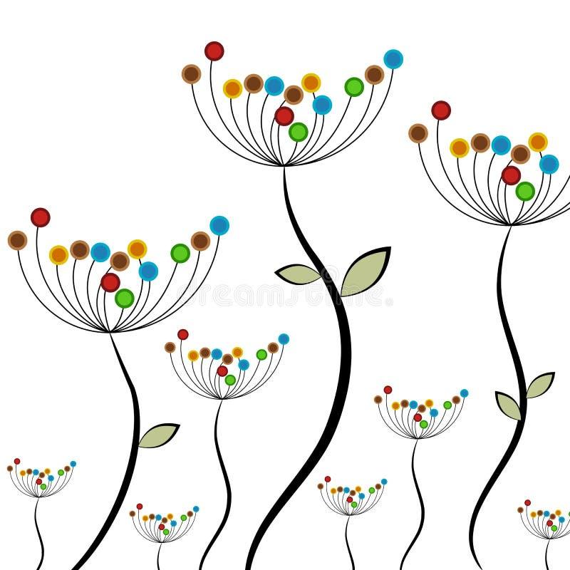 Campo de flor abstracto stock de ilustración