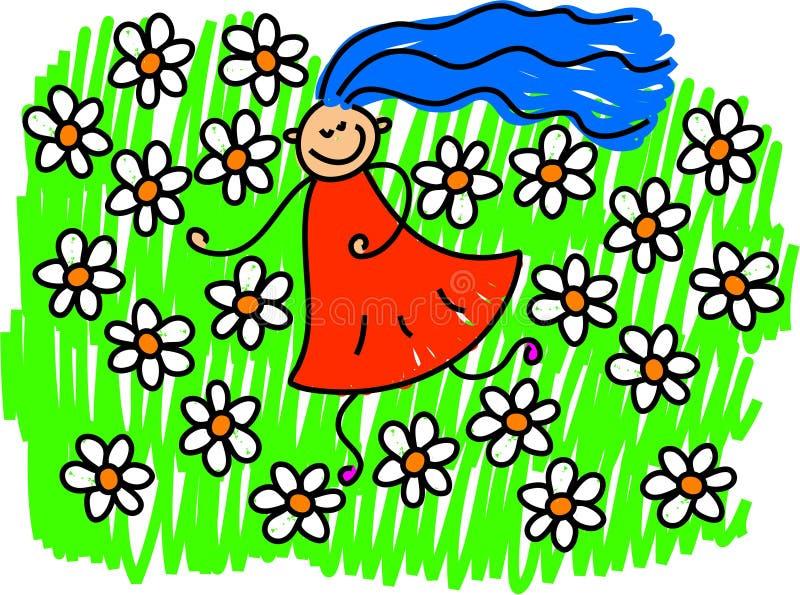 Campo de flores stock de ilustración