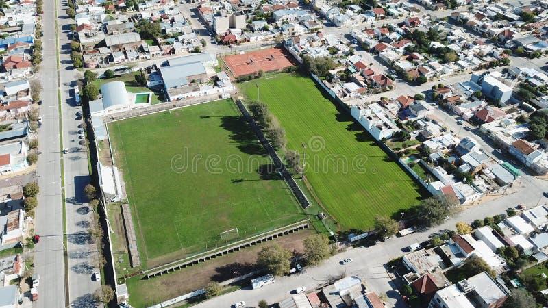 Campo de Futbol/ Football Field!. Imagen aerea de campo de futbol stock images