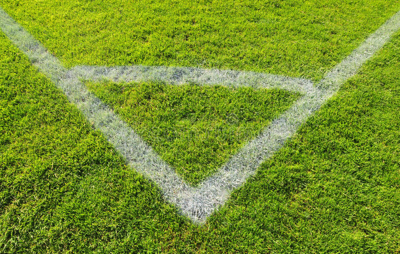 Campo de futebol fotografia de stock royalty free
