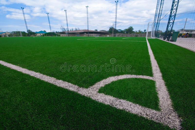 Campo de futebol imagem de stock royalty free