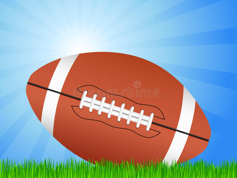 Campo de futebol americano ilustração do vetor
