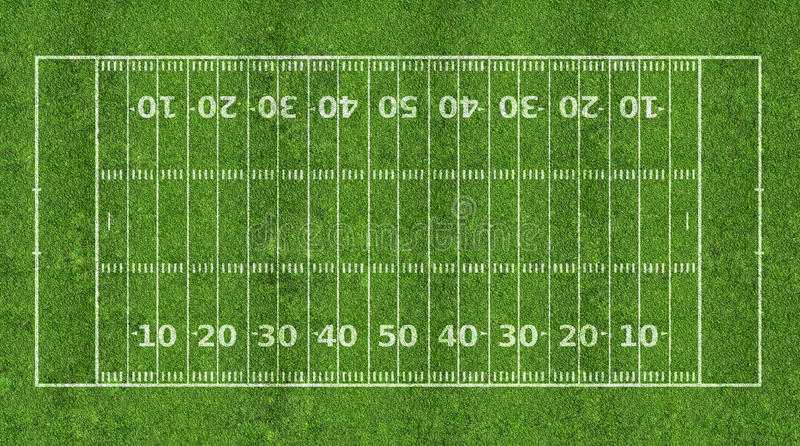 Campo de futebol americano imagens de stock