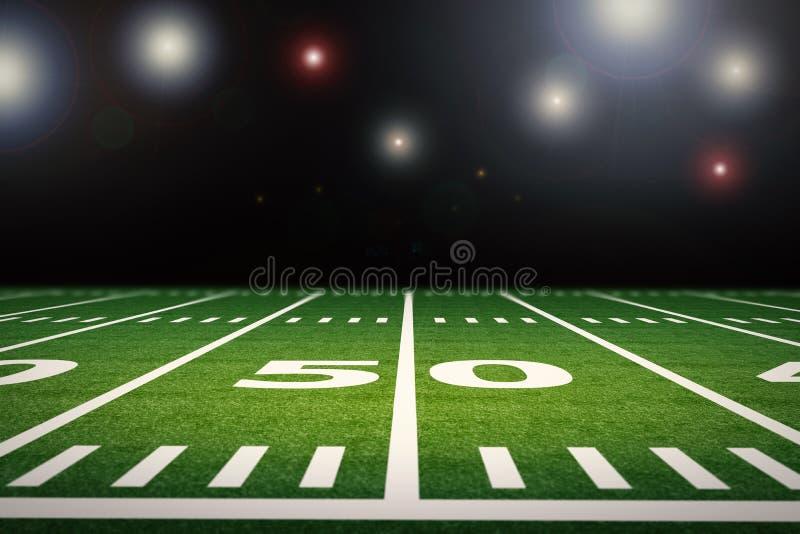 Campo de futebol americano fotografia de stock royalty free