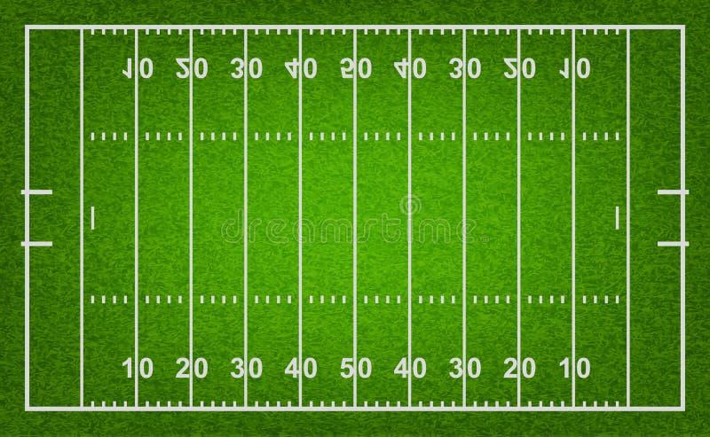Campo de futebol americano Ilustração do vetor ilustração stock