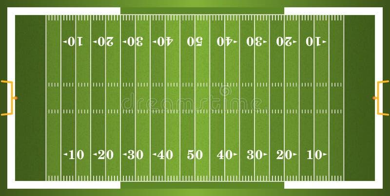 Campo de futebol americano Textured da grama ilustração royalty free