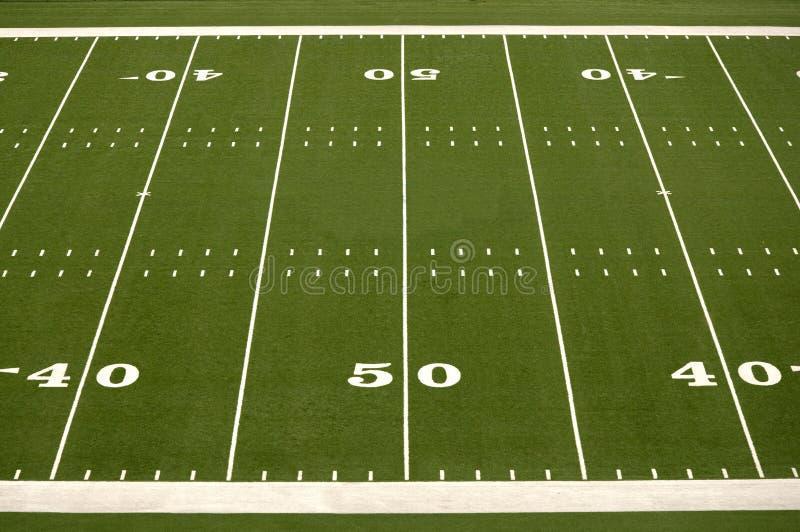 Campo de futebol americano vazio fotos de stock royalty free