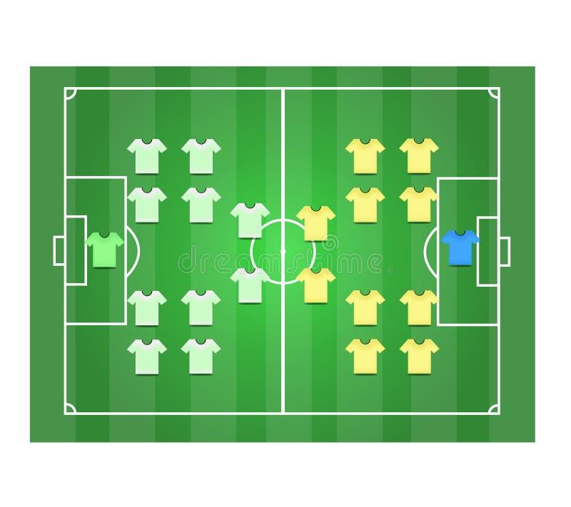 Campo de futebol e Footballer2 ilustração stock