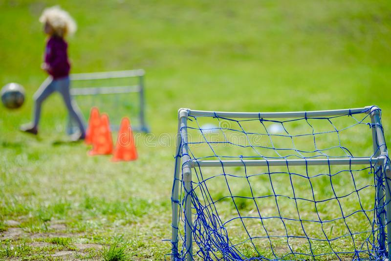 Campo de futebol mini imagem de stock royalty free