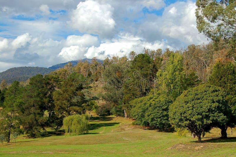 Campo de golf - belleza del soporte fotos de archivo