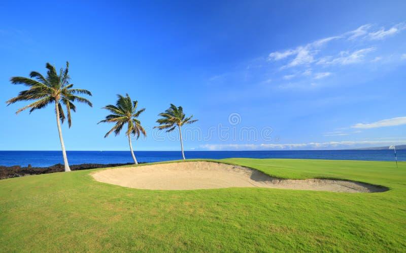 Campo de golf de Hawaii fotos de archivo libres de regalías