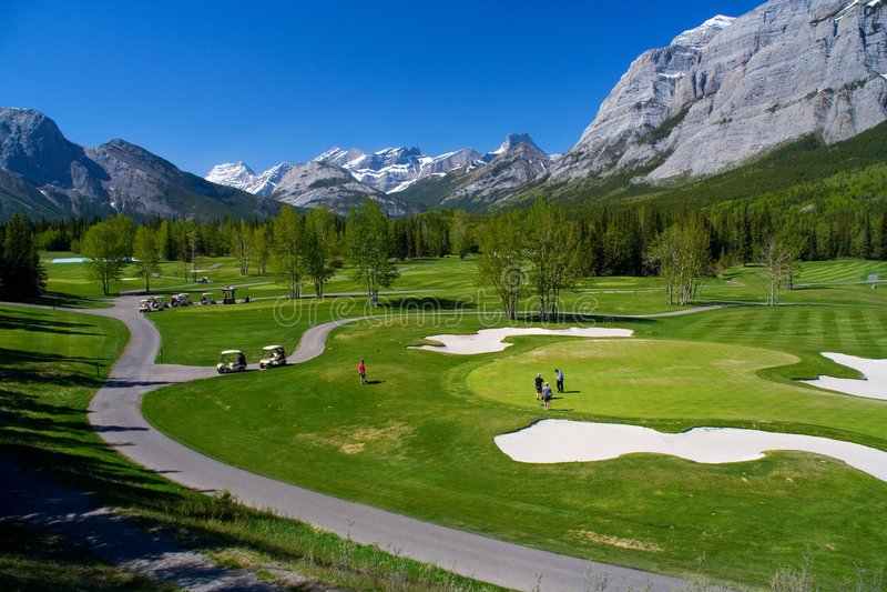 Campo de golf de Kananaskis fotografía de archivo libre de regalías