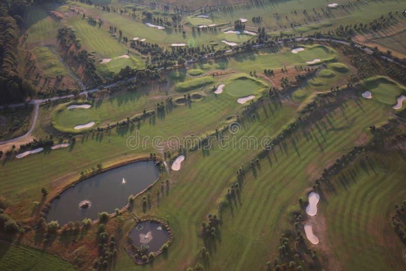 Campo de golf del aire fotografía de archivo libre de regalías