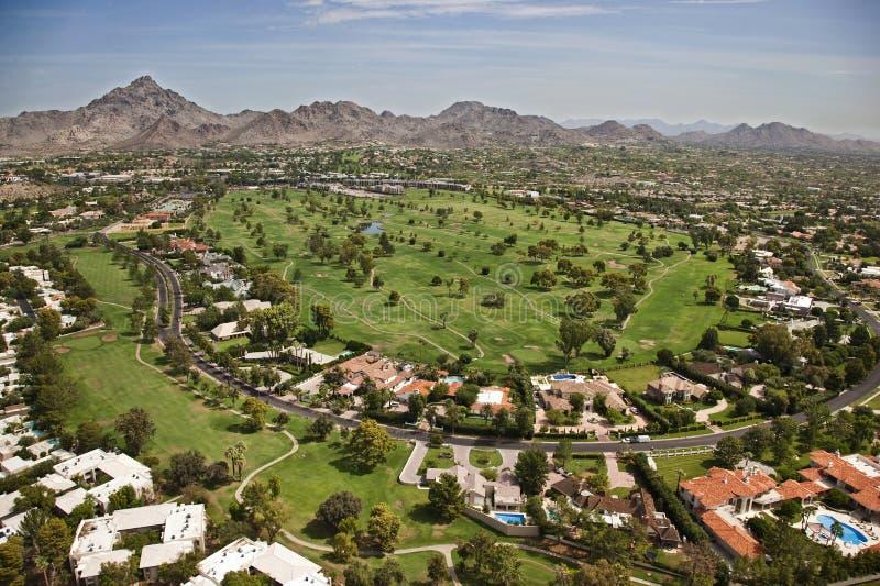 Campo de golf del centro turístico foto de archivo libre de regalías