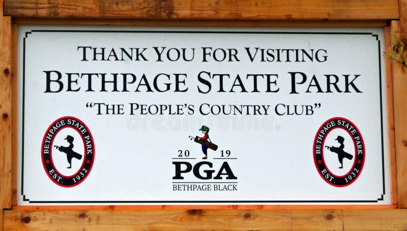 Campo de golf del negro de Bethpage imagenes de archivo