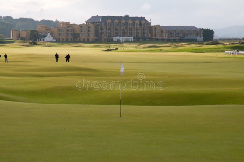 Campo de golf del St Andrews imagen de archivo libre de regalías
