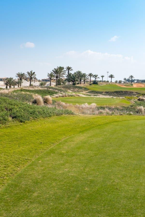 Campo de golf en la isla de Saadiyat, Abu Dhabi, UAE foto de archivo