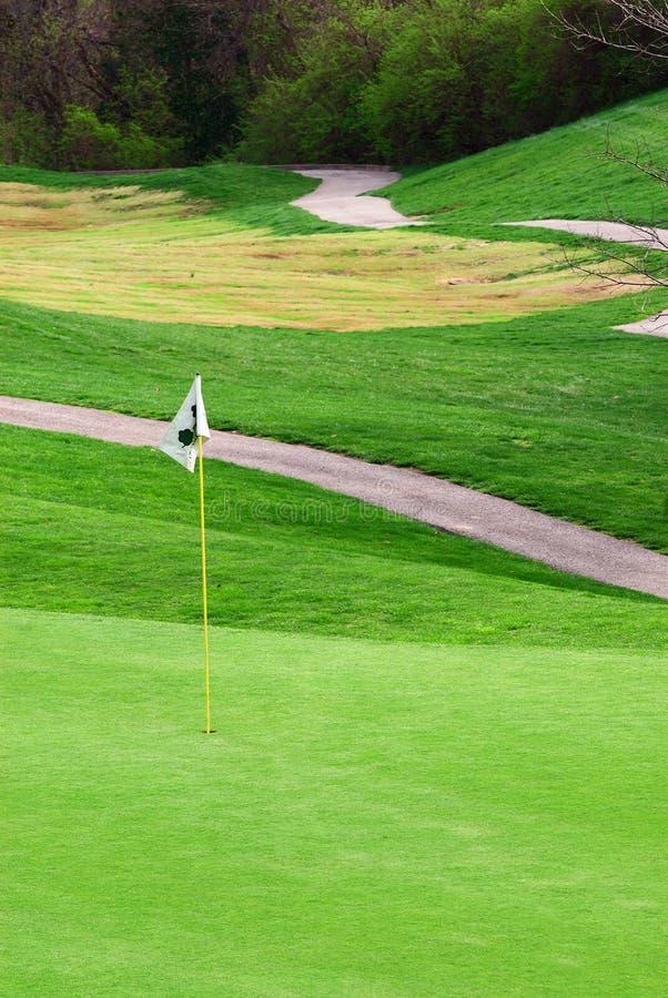 Campo de golf en primavera foto de archivo