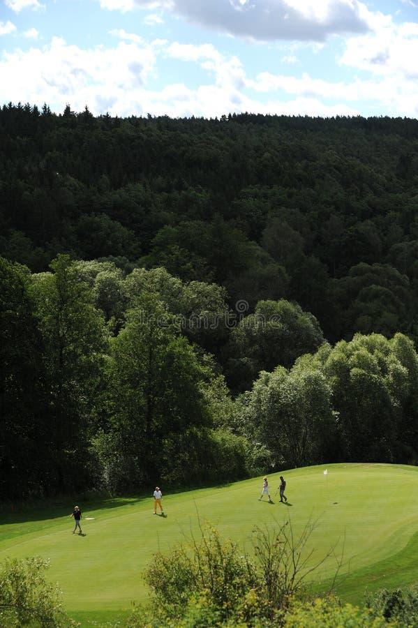 Campo de golf - República Checa foto de archivo libre de regalías